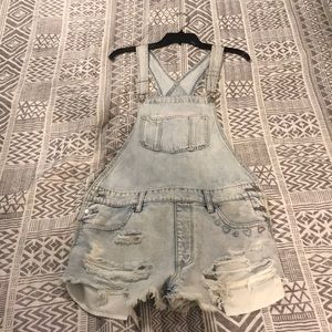 American eagle outfitters overall shorts